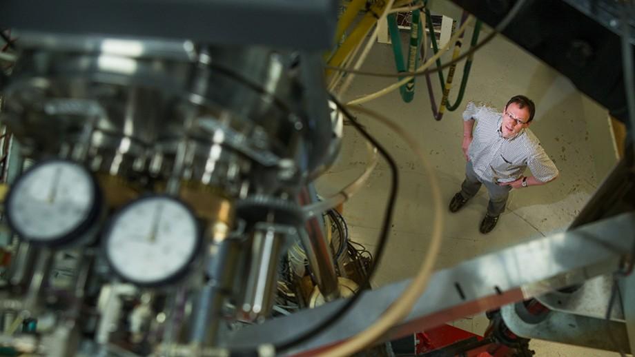 Dr Anton Wallner in the Nuclear Physics Department at ANU. Image: Stuart Hay, ANU