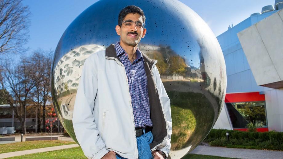 Dr Aditya Chopra. Image: Stuart Hay, ANU