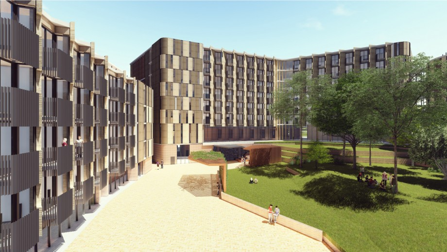 Artist's impression of new residence - exterior