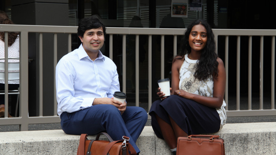 Inaugural scholarships recipients, Sonali Fernando and Prashant Kelshiker