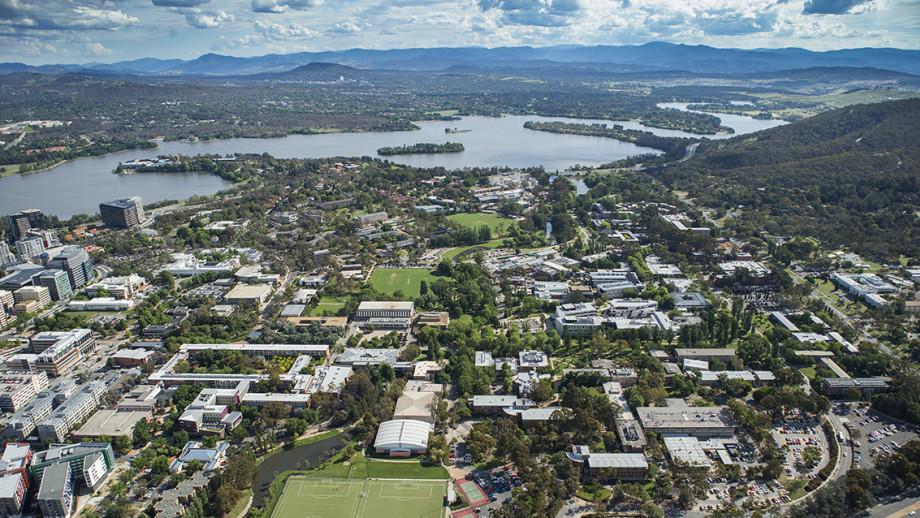 ANU campus from Mount Ainslie. Image: ANU