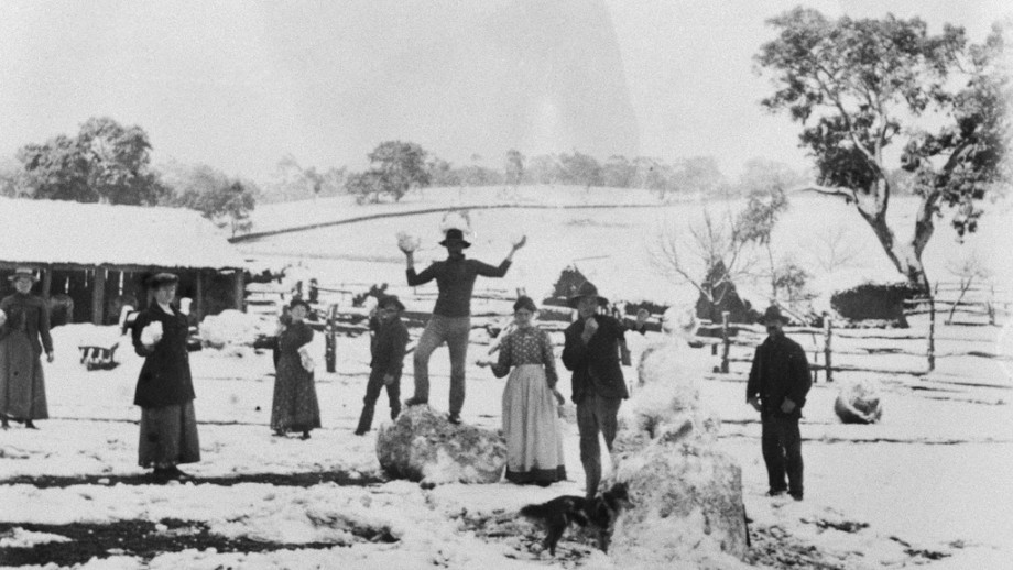 Adelaide snow, 1902. Credit: State Library of South Australia