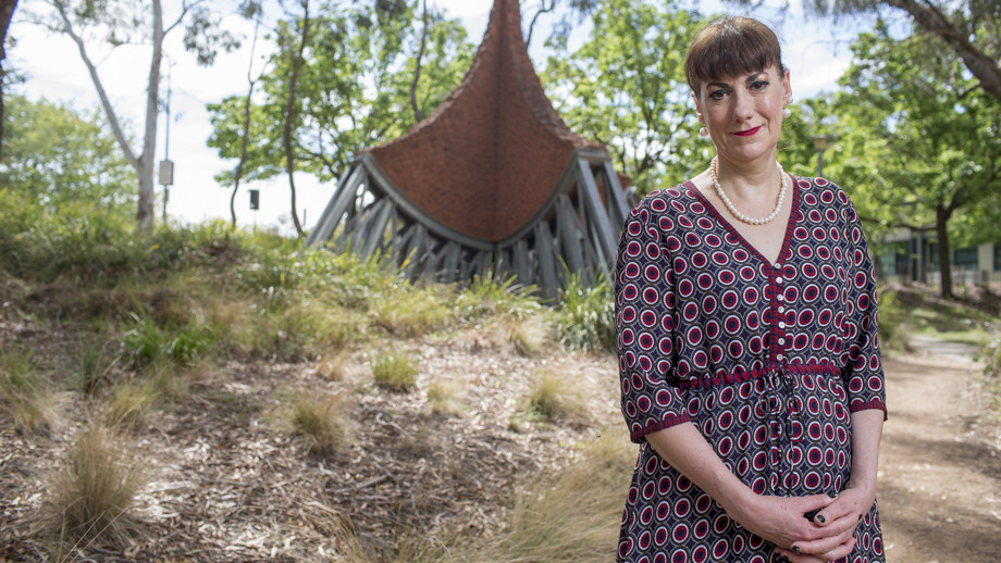 Dr Adele Chynoweth from the ANU Centre for Heritage and Museum studies. Photo by Lannon Harley, ANU.