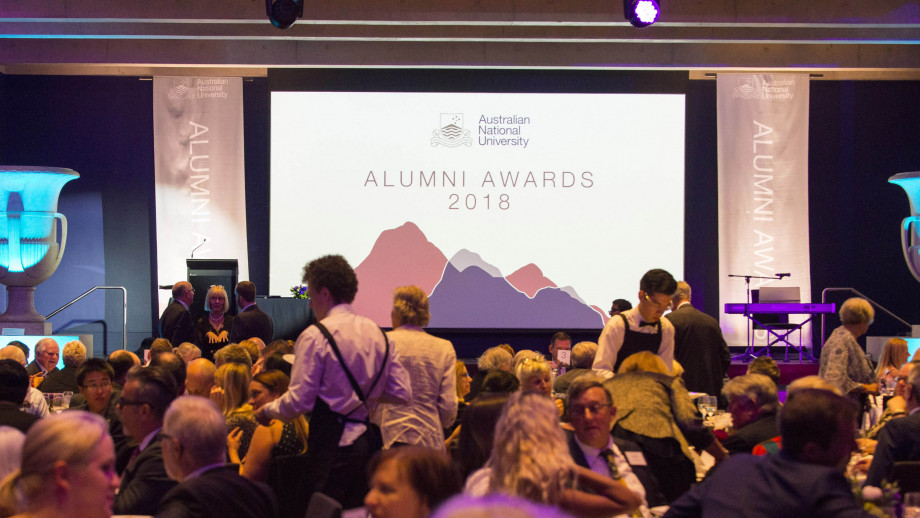 The 2018 ANU Alumni Awards were held at the Gandel Hall, National Gallery of Australia. Photo by Ricky Lloyd.
