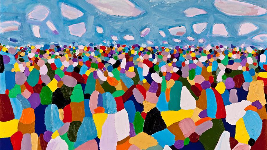 Australian Crowd painting