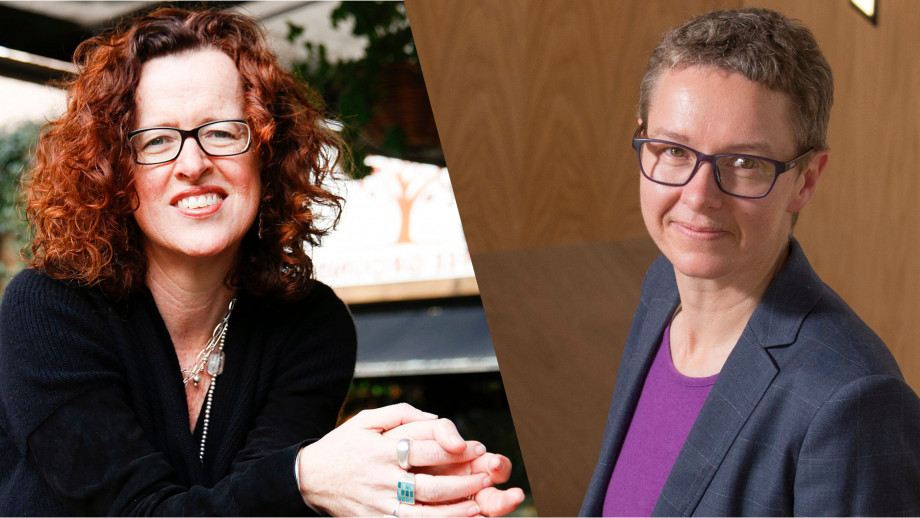 Director of the 3A Institute Distinguished Professor Genevieve Bell and Dean of the ANU College of Engineering and Computer Science, Professor Elanor Huntington