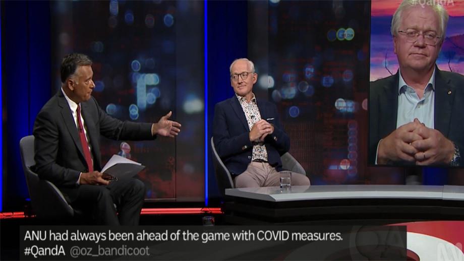 Stan Grant, Professor Tony Walsh and Professor Brian Schmidt on ABC's Q&A last night.