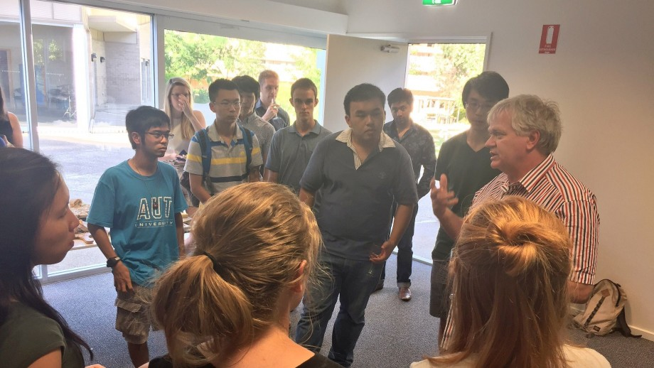 The Vice-Chancellor speaking to students participating in the ANU Summer School.