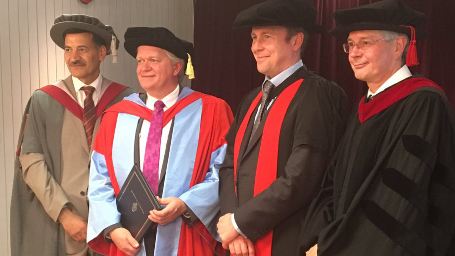 Professor Schmidt receiving his Honorary Doctorate of Science at the University of Southampton.