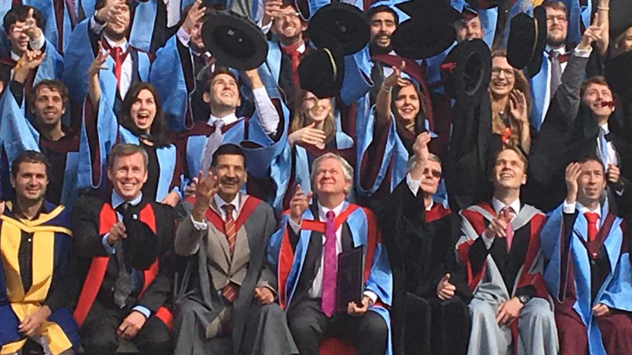 Professor Schmidt at the University of Southampton, where he received his Honorary Doctorate of Science.