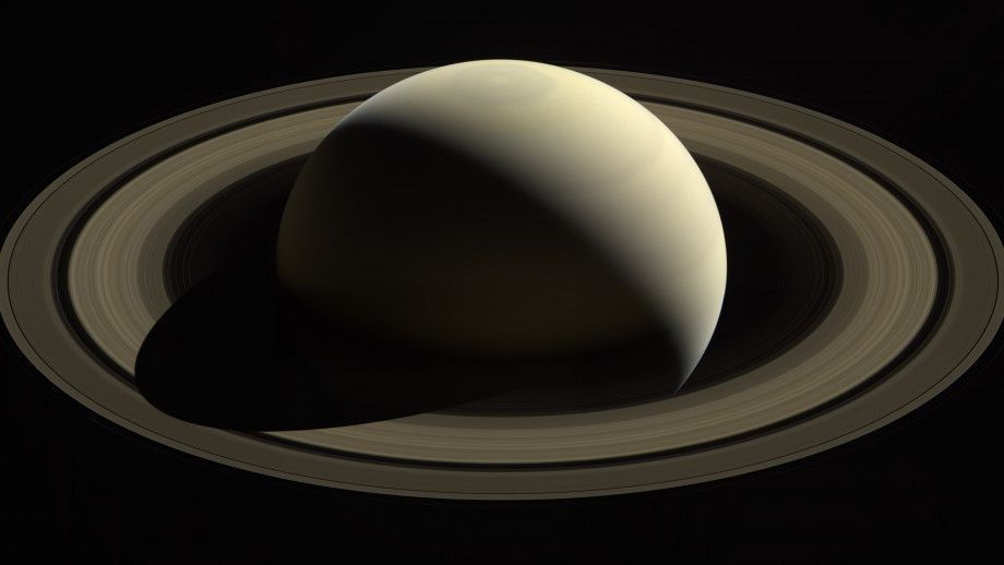 With this view, Cassini captured one of its last looks at Saturn and its main rings from a distance. Image credit: NASA/JPL-Caltech/Space Science Institute