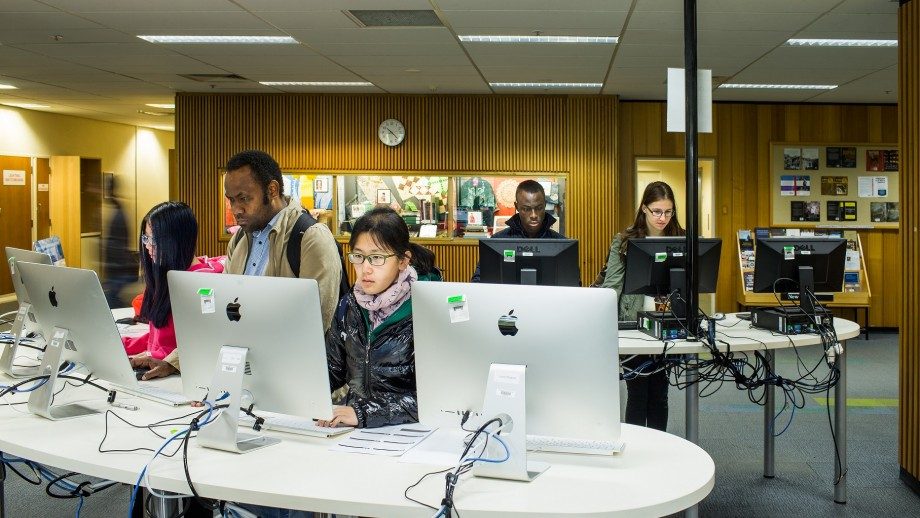 Technology in the Chifley Library today.