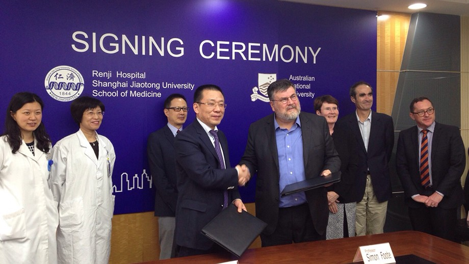 The University's John Curtin School of Medical Research (JCSMR) has signed a Memorandum of Understanding with Shanghai Jiaotong University School of Medicine to establish a Joint Research Centre for Personalised Immunology. Image: supplied.
