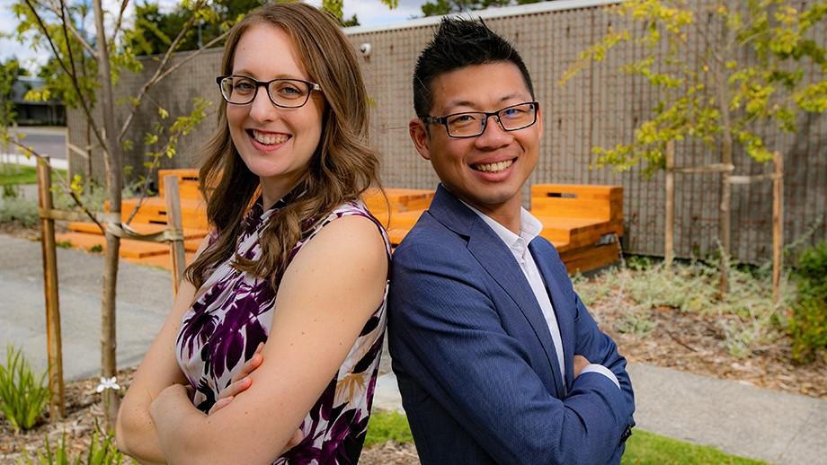 Christina DeLay and her business partner Alan Tse