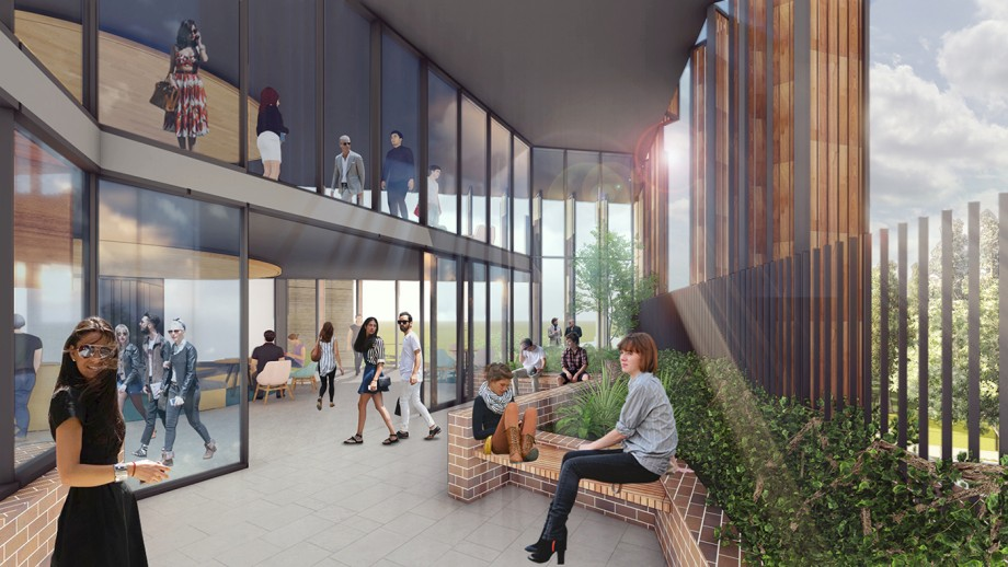 Artist's impression of new residence - common room