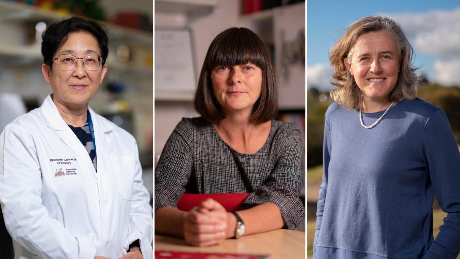 Professor Yun Liu, Professor Sharon Friel and Professor Naomi McClure-Griffiths. Image: The Australian National University.