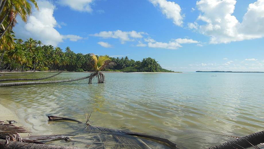 Lagoon on Teti'aroa.  Image: Dr Guillaume Molle