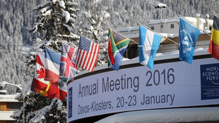 I visited the World Economic Forum in Davos, Switzerland.