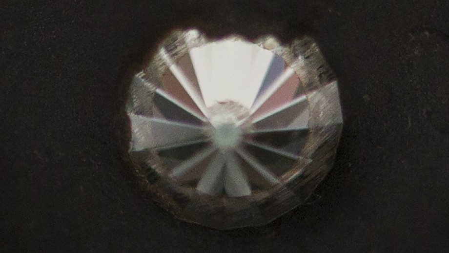 Diamond in the anvil the scientists used to make the nano-sized Lonsdaleite