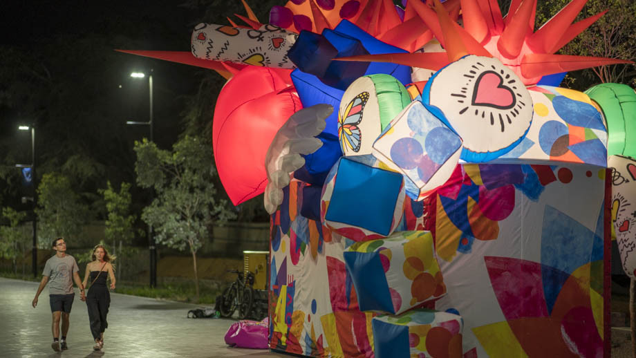 Live for Love will be on display along University Avenue during the Enlighten festival. Photo by Lannon Harley, ANU.