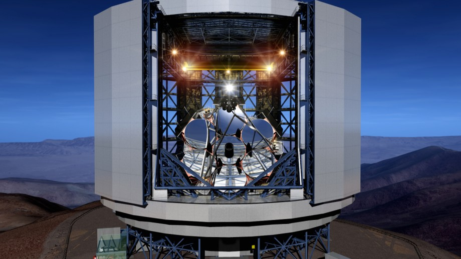 Artist's impression of the Giant Magellan Telescope in Chile