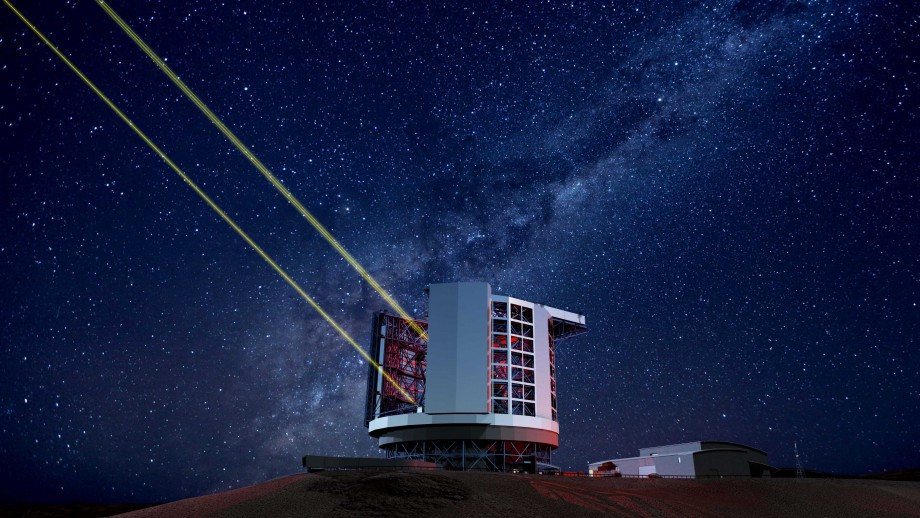 An artist's impression of the Giant Magellan Telescope once it will be operational.