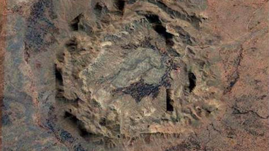 The impressive Gosses Bluff impact structure in the Northern Territory, which is dated at 142 million years-old. Author provided.