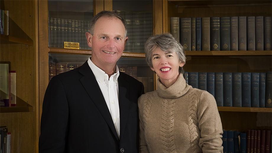 Graeme and Louise Tuckwell. Photo by Stuart Hay, ANU.