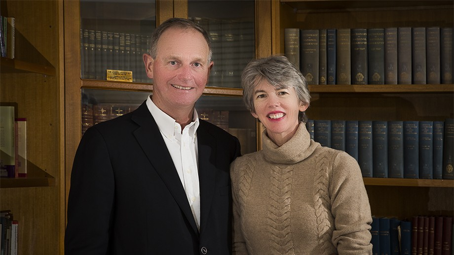 Graeme and Louise Tuckwell. Photo by Stuart Hay, ANU.