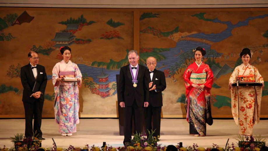 Dr Graham Farquhar won the 2017 Kyoto Prize in Basic Sciences. Image: Courtesy of the Inamori Foundation