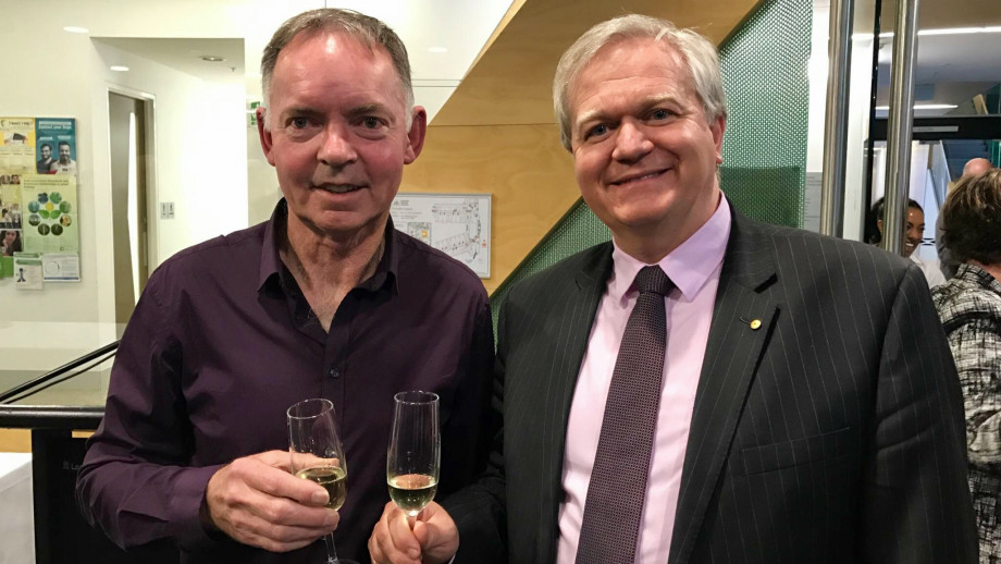 Distinguished Professor Graham Farquhar and Professor Brian Schmidt