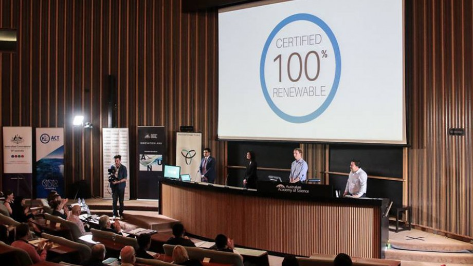 Certified Renewable pitching at InnovationACT Pitch Night