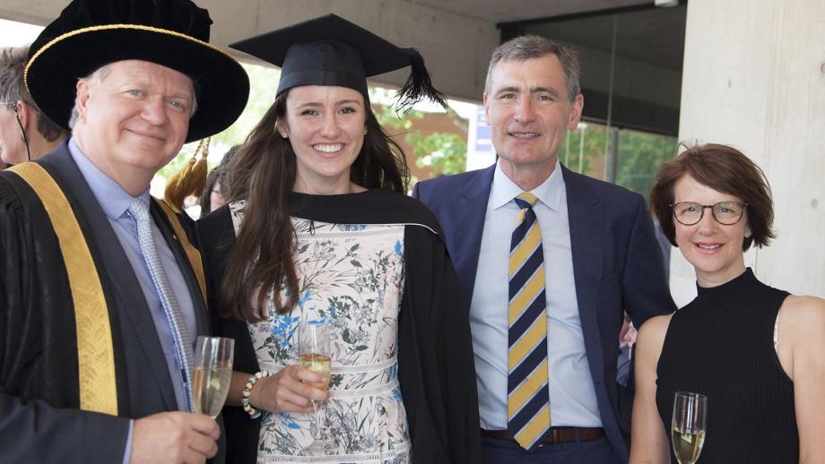 Professor Brian Schmidt AC, Siobhan Tobin and her parents.