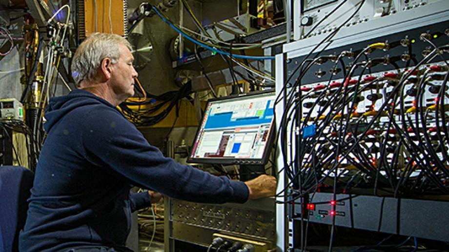 Professor John Howard at the ANU H1 Heliac fusion experiment. Image Stuart Hay, ANU
