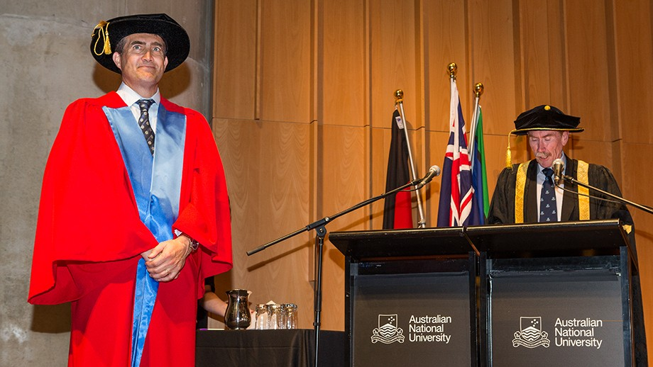 Kellogg Company CEO John Bryant being presented with an Honorary Doctorate. Image: Stuart Hay
