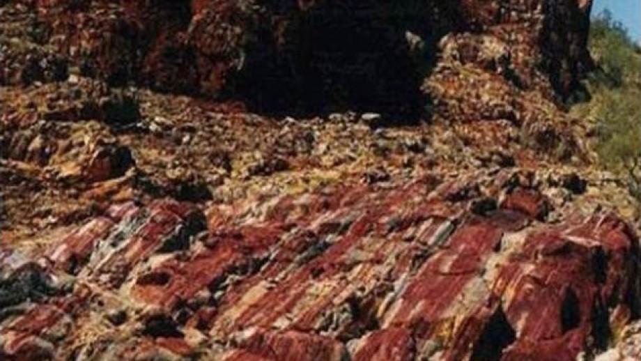 Sediments at Marble Bar, WA. Image: A. Glikson