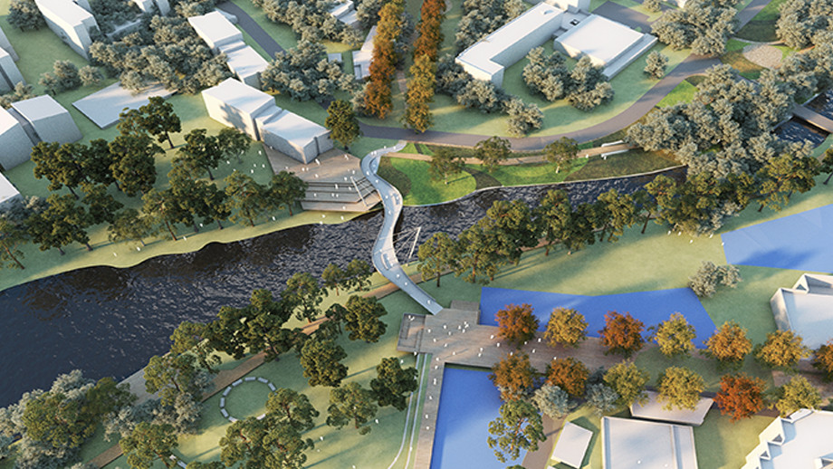 The Sullivans Hub will bring life to a 'back corner' of the University by combining research, living and teaching functions and a new bridge across Sullivans Creek, creating new public spaces and shared facilities around the bridge landings.The Sullivans