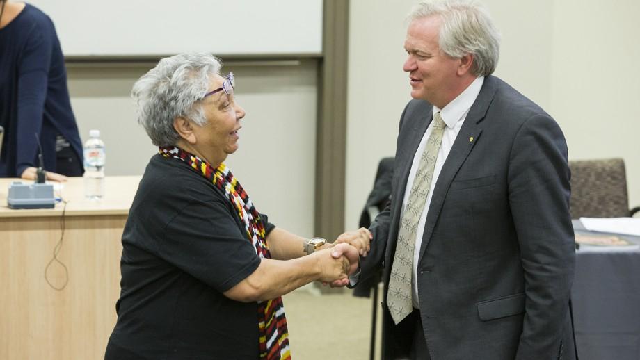 Ngunnawal Elder Matilda House and Professor Brian Schmidt