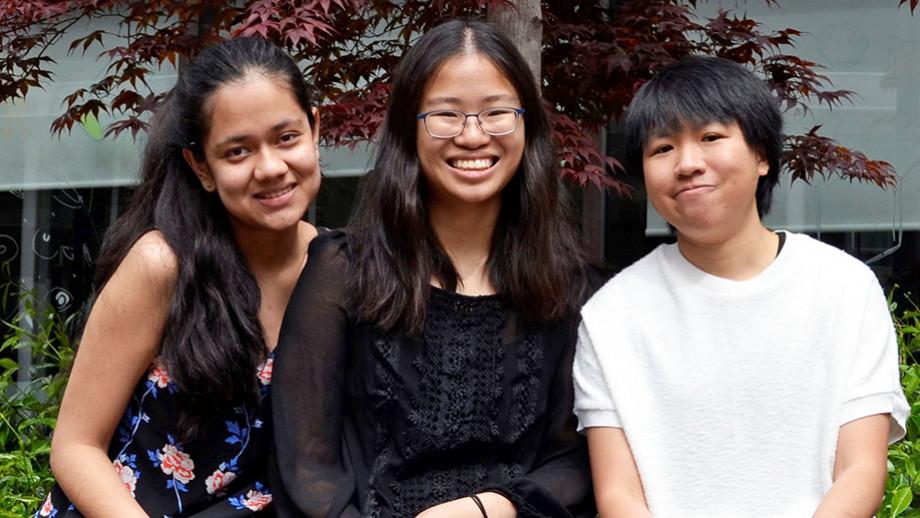 Bernice Choi, Michelle Lee & Prachi Arya of Pet Pawfect provide pet training
