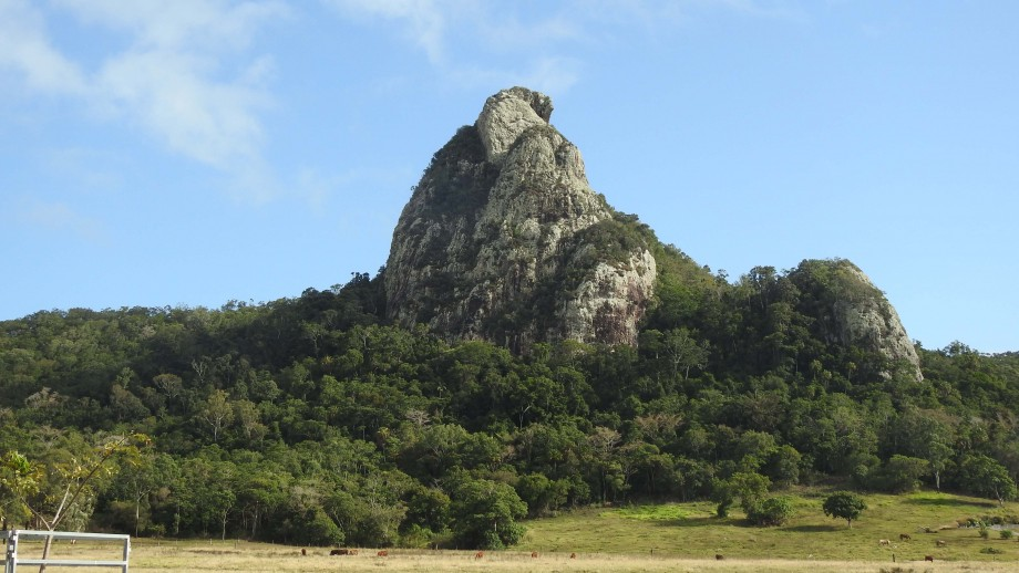 Pinnacle Rock, a volcanic plug in Cape Hillsborough National Park, Queensland. Image Mike Griinke