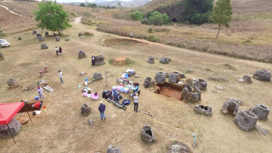 Plain of Jars site in Laos. Image: ANU.