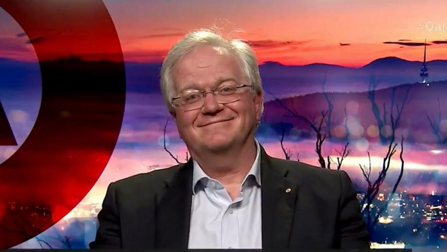 Professor Brian Schmidt appearing on ABC's Q&A last night.