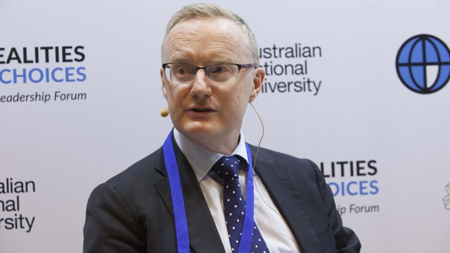 Reserve Bank of Australia Governor Philip Lowe at the Crawford Australian Leadership Forum. Image: Stuart Hay, ANU.