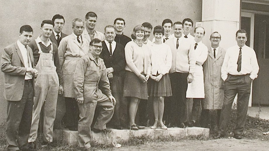 ANU Research School of Chemistry staff members in 1967. Image: ANU