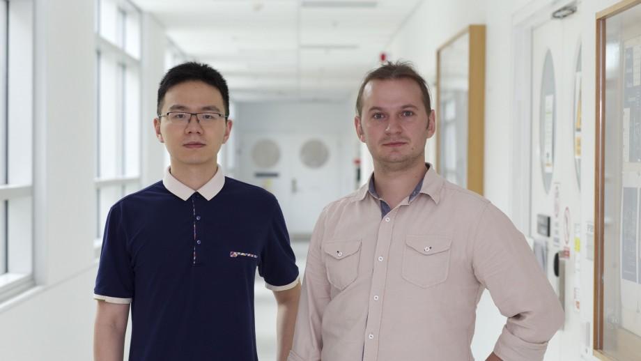 PhD student Lei Wang and Dr Sergey Kruk