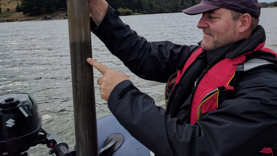Professor Simon Haberle collecting freshwater sediment cores. Image: ANU