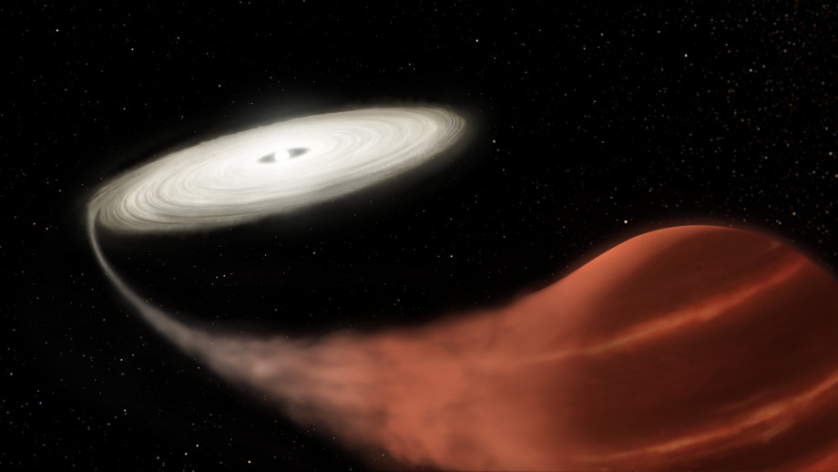 An artist's impression of a vampire system. Image credit: NASA and L. Hustak (STScI)