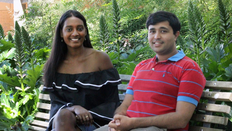 ANU College of Law students Prashant Kelshiker and Sonali Fernando