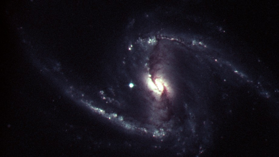 Supernova SN2012fr, just to the left of the cntre of the galaxy, outshone the rest of the galaxy for several weeks