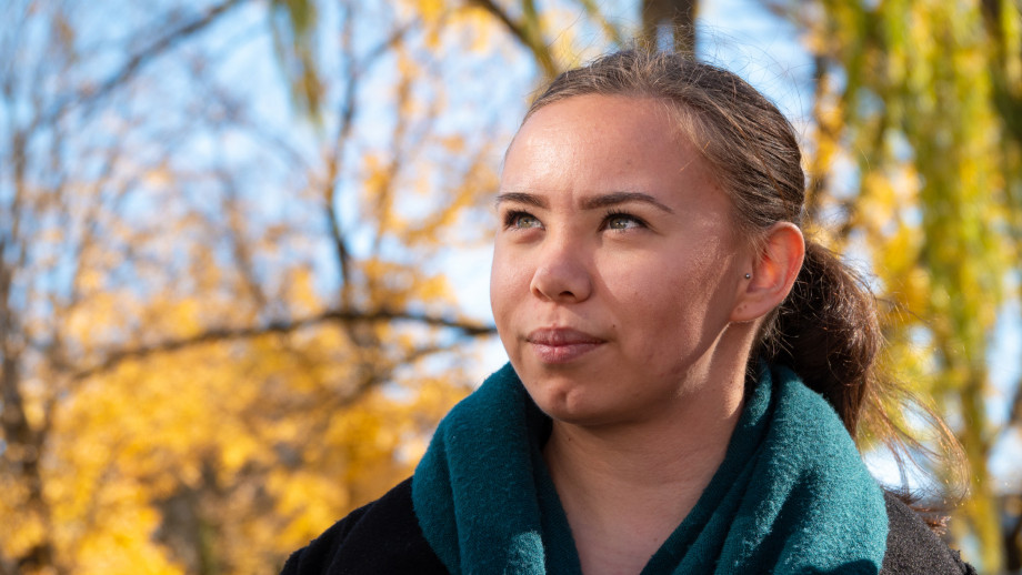 Indigenous student Taliah King at the launch of the new ANU Reconciliation Action Plan. Credit: Adam Spence